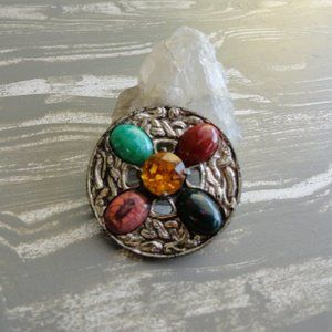 3/$20 vintage stone brooch pin